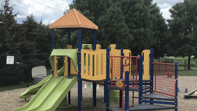 A playground outside the Erwin Child and Family Center